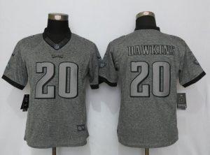Womens Philadelphia Eagles 20 Dawkins Gray Stitched Gridiron Gray New Nike Limited Jerseys