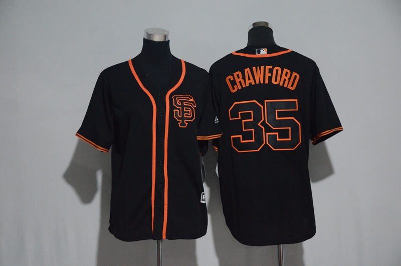 Youth 2017 MLB San Francisco Giants 35 Crawford Black Jerseys