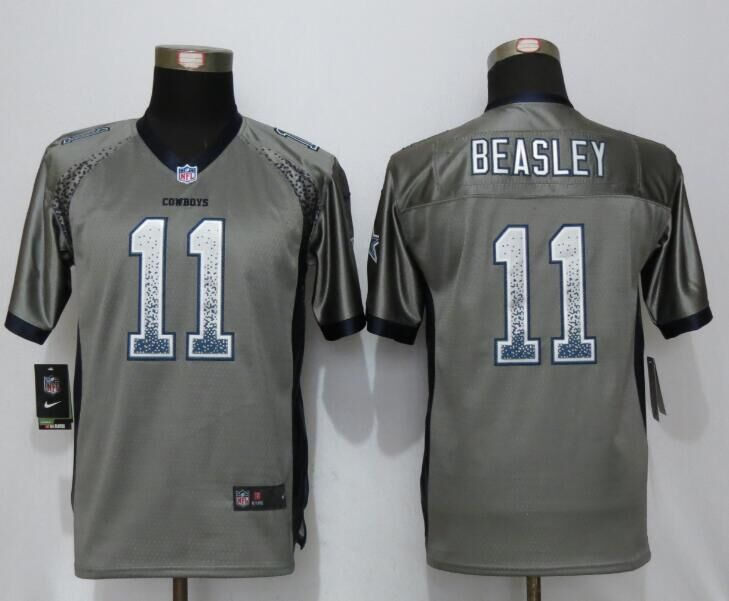 Youth Dallas cowboys 11 Beasley Drift Fashion Grey NEW Nike Elite Jerseys
