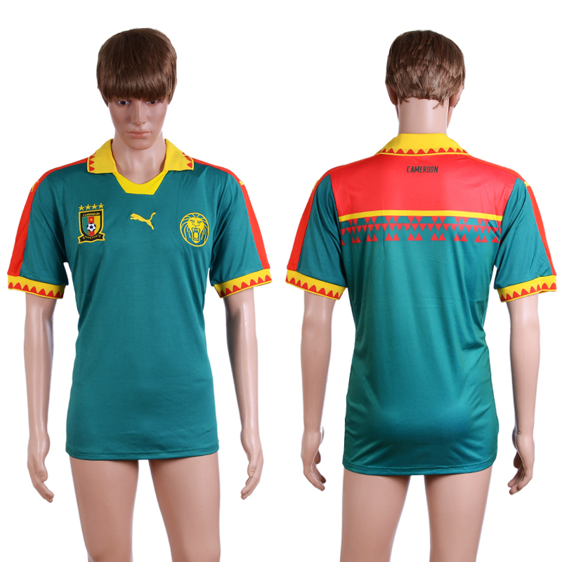 2016-2017 National Cameroon home Green AAA+ Soccer Jersey
