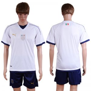 2016-2017 National Italy away Blank White Soccer Jersey