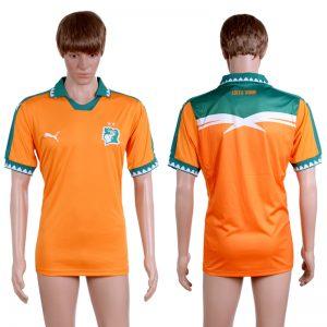2016-2017 National Ivory Coast home Orange AAA+ Soccer Jersey