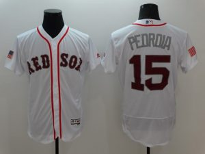 2016 MLB Boston Red Sox 15 Pedroia White Elite Fashion Jerseys