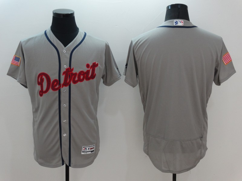 2016 MLB Detroit Tigers Blank Grey Elite Fashion Jerseys