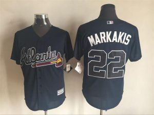 2016 MLB FLEXBASE Atlanta Braves 22 Markakis blue jerseys