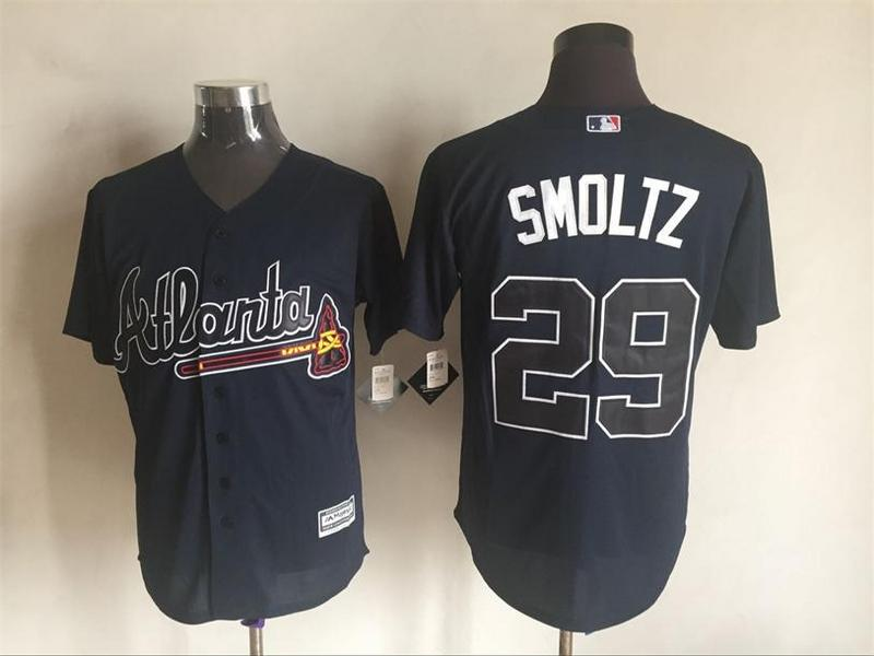 2016 MLB FLEXBASE Atlanta Braves 29 Smoltz blue jerseys