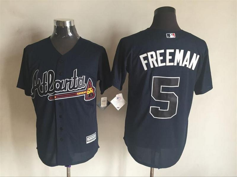 2016 MLB FLEXBASE Atlanta Braves 5 Freeman blue jerseys