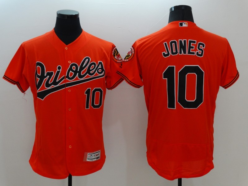 2016 MLB FLEXBASE Baltimore Orioles 10 Jones Orange Jersey