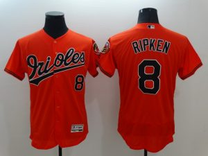 2016 MLB FLEXBASE Baltimore Orioles 8 Ripken Orange Jersey