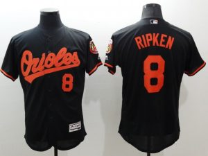 2016 MLB FLEXBASE Baltimore Orioles 8 Ripken black jerseys