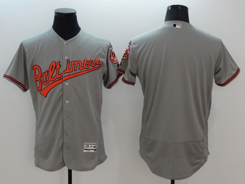 2016 MLB FLEXBASE Baltimore Orioles blank grey jerseys