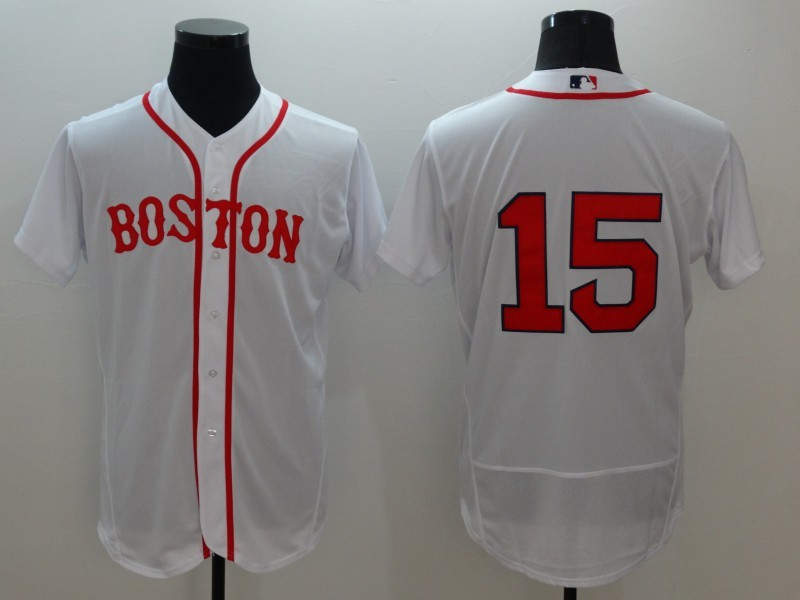 2016 MLB FLEXBASE Boston Red Sox 15 Dustin Pedroia White Jerseys