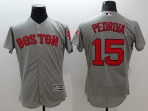 2016 MLB FLEXBASE Boston Red Sox 15 Pedroia grey jerseys