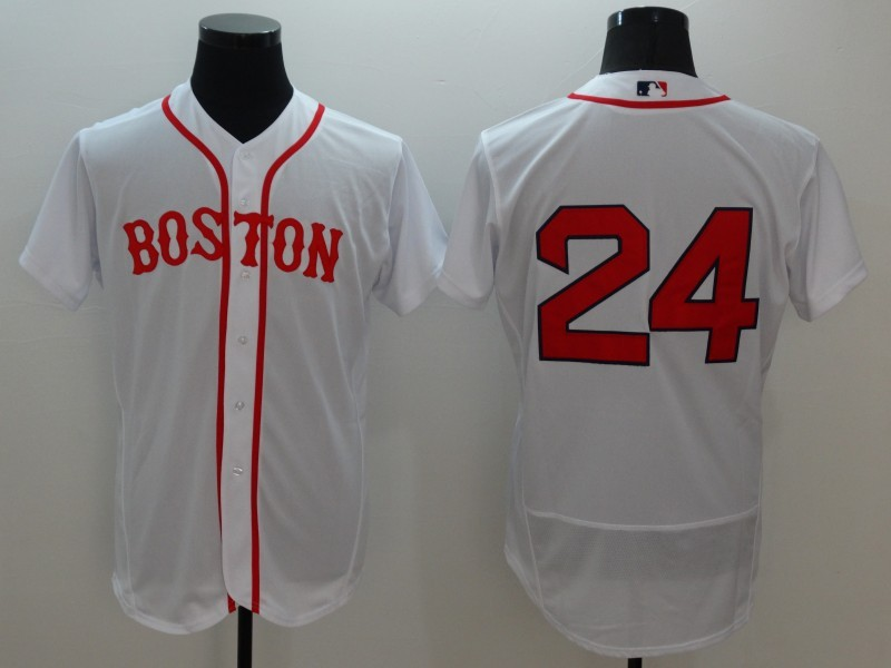 2016 MLB FLEXBASE Boston Red Sox 24 David Price White Jerseys