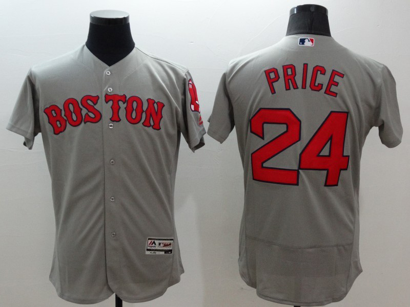 2016 MLB FLEXBASE Boston Red Sox 24 Price grey jerseys