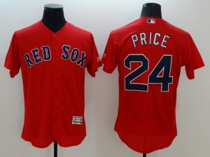 2016 MLB FLEXBASE Boston Red Sox 24 Price red jerseys