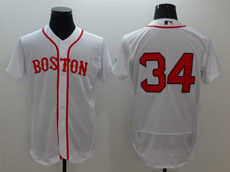 2016 MLB FLEXBASE Boston Red Sox 34 David Ortiz White Jerseys