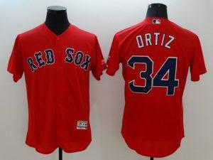 2016 MLB FLEXBASE Boston Red Sox 34 Ortiz red jerseys