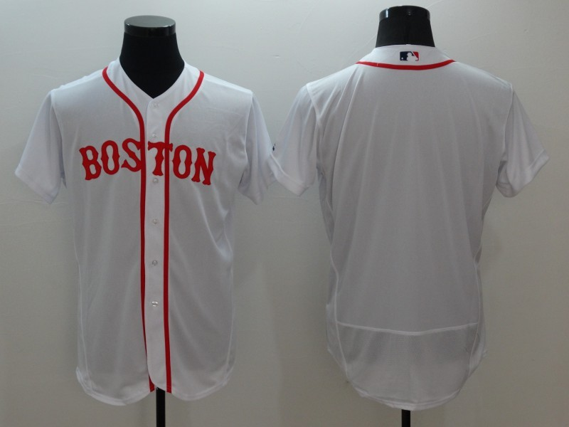 2016 MLB FLEXBASE Boston Red Sox Blank White Jerseys