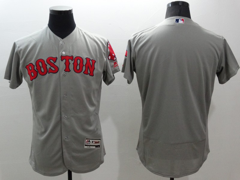 2016 MLB FLEXBASE Boston Red Sox blank grey jerseys