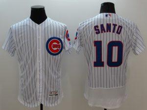 2016 MLB FLEXBASE Chicago Cubs 10 Santo white jerseys
