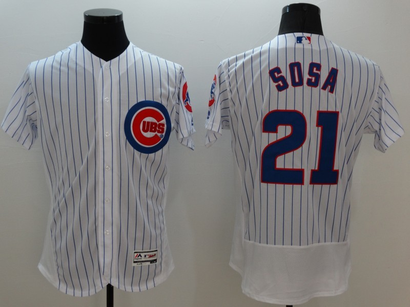 2016 MLB FLEXBASE Chicago Cubs 21 Sosa white jerseys