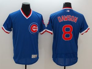2016 MLB FLEXBASE Chicago Cubs 8 Dawson Blue Jersey