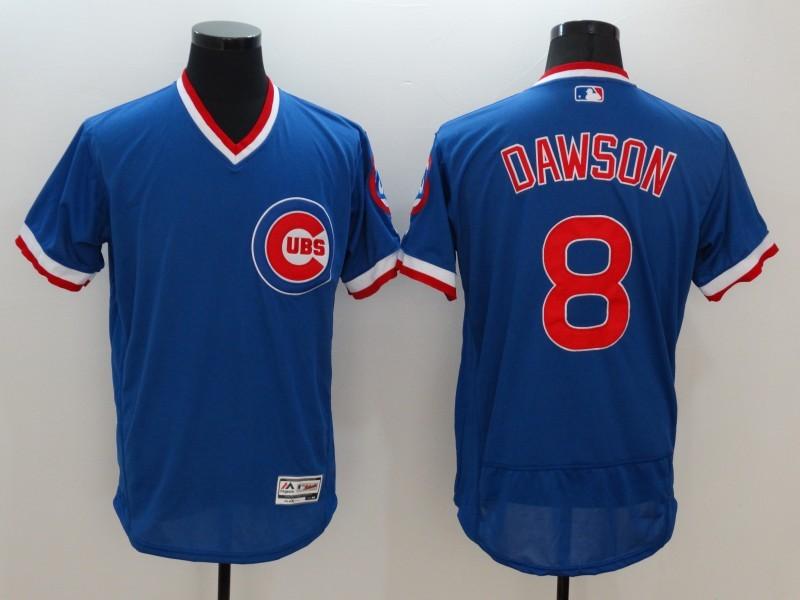 2016 MLB FLEXBASE Chicago Cubs 8 Dawson Blue Jersey
