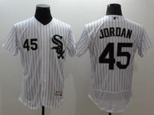 2016 MLB FLEXBASE Chicago White Sox 45 Jordan white jerseys