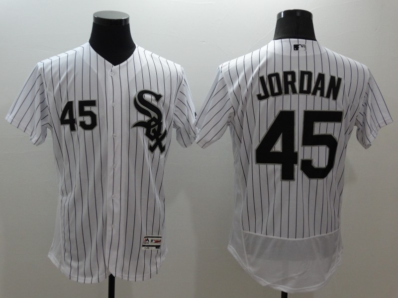 2016 MLB FLEXBASE Chicago White Sox 45 Jordan white jerseys