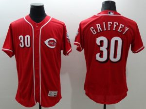 2016 MLB FLEXBASE Cincinnati Reds 30 Griffey red jerseys