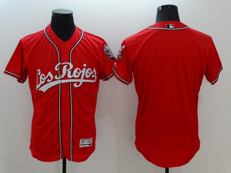 2016 MLB FLEXBASE Cincinnati Reds Blank Red Jersey