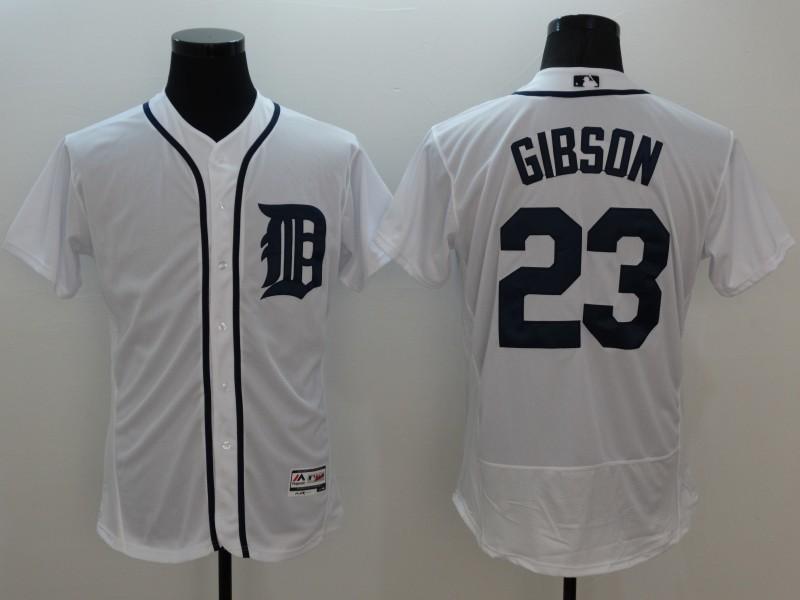 2016 MLB FLEXBASE Detroit Tigers 23 Gibson white jerseys