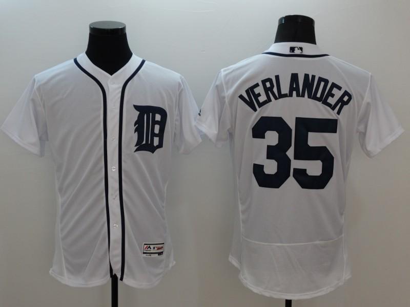 2016 MLB FLEXBASE Detroit Tigers 35 Verlander white jerseys