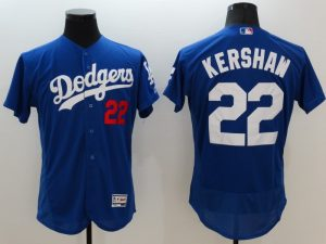 2016 MLB FLEXBASE Los Angeles Dodgers 22 Kershaw blue jerseys