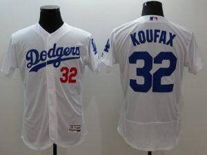 2016 MLB FLEXBASE Los Angeles Dodgers 32 Koufax white jerseys