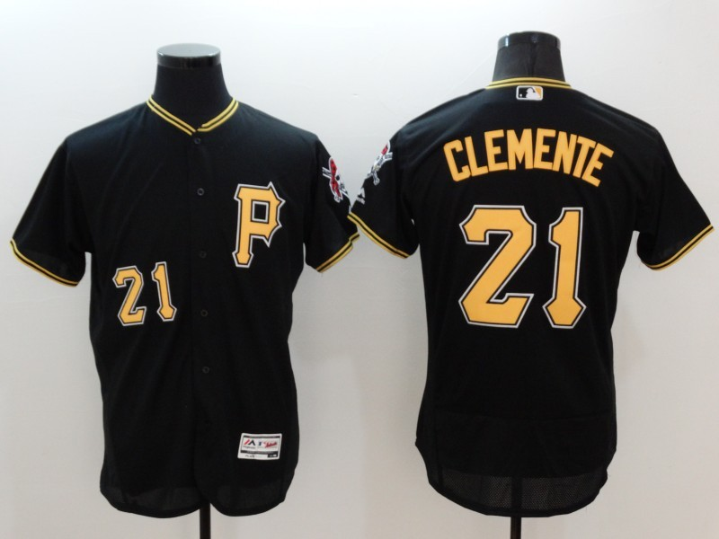 2016 MLB FLEXBASE Pittsburgh Pirates 21 Clemente black jerseys