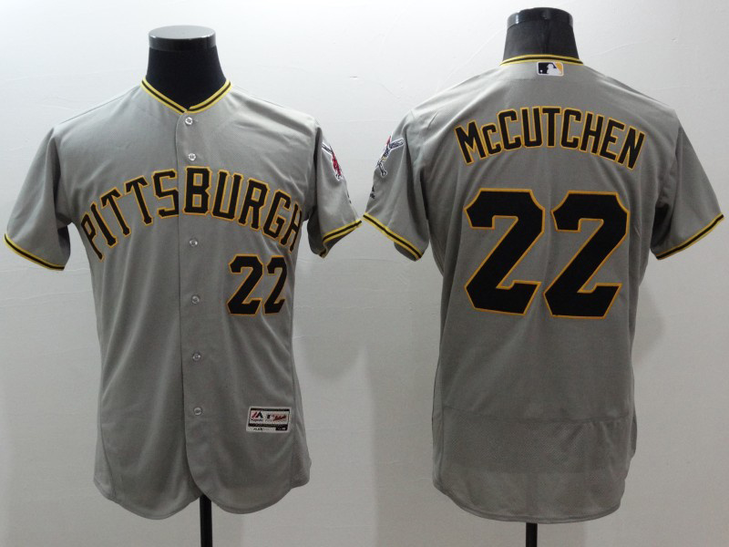 2016 MLB FLEXBASE Pittsburgh Pirates 22 McCutchen Grey jerseys