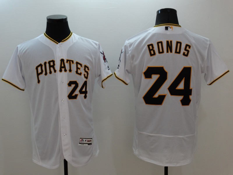 2016 MLB FLEXBASE Pittsburgh Pirates 24 Bonds white jerseys