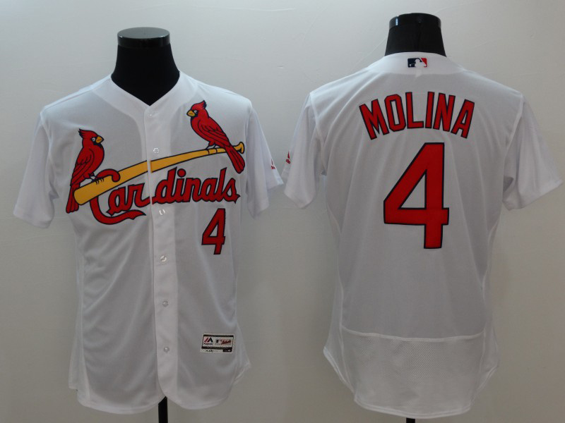 2016 MLB FLEXBASE St.Louis Cardinals 4 Molina white jerseys