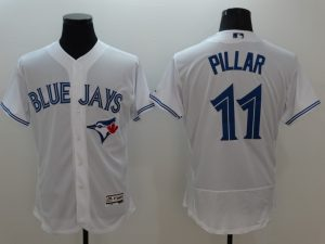 2016 MLB FLEXBASE Toronto Blue Jays 11 Pillar white jerseys