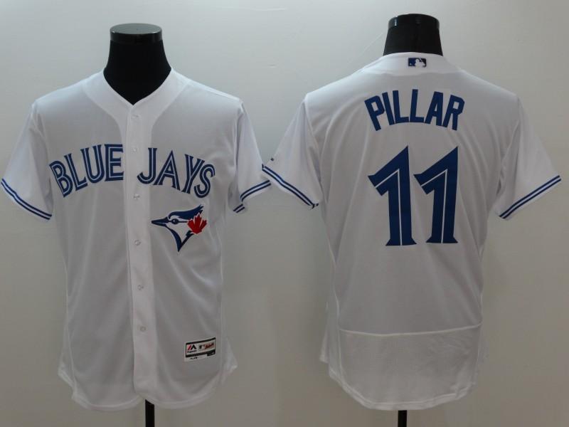 2016 MLB FLEXBASE Toronto Blue Jays 11 Pillar white jerseys
