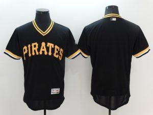 2016 MLB Pittsburgh Pirates Blank Black Elite Throwback Jerseys