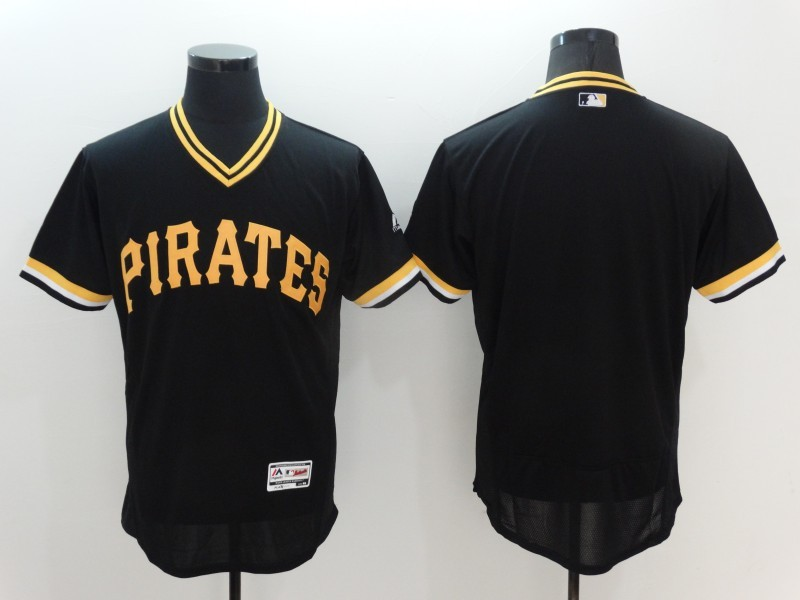 2016 MLB Pittsburgh Pirates Blank Black Elite Throwback Jerseys