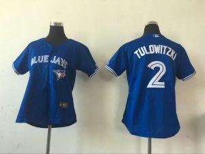 2016 MLB Womens Toronto Blue Jays 2 Troy Tulowitzki Blue Jersey