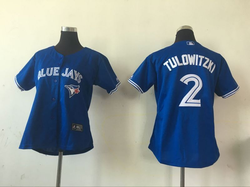 2016 MLB Womens Toronto Blue Jays 2 Troy Tulowitzki Blue Jersey