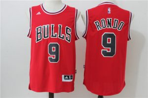 2016 NBA Chicago Bulls 9 Rondo Red Jerseys