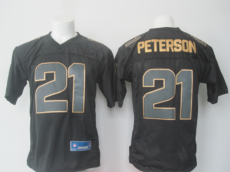 2016 Nike NFL Arizona Cardinals 21 Patrick Peterson black Golden jerseys