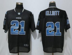 2017 Dallas Cowboys 21 Elliott Strobe Lights Out Black Nike Elite Jerseys