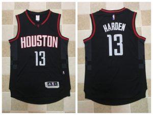2017 NBA Houston Rockets 13 James Harden Black Jerseys